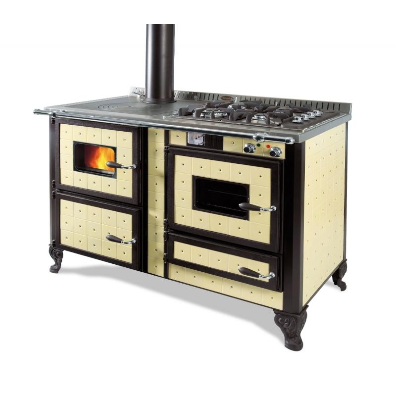 Cuisini re bois bouilleur mixte wekos 120 lge rustica for Cuisiniere a bois