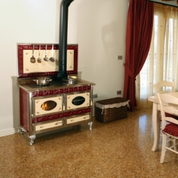 cuisinière à bois bouilleur wekos 106 rustica valeriana